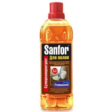 Средство для мытья полов Sanfor Professional 5в1