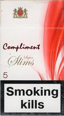 Сигареты с фильтром Compliment Super Slim 5, картонная пачка