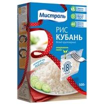 Крупа рисовая Мистраль Кубань круглозерный белый в пакетиках