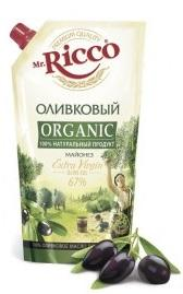 Майонез MR. RICCO Organic оливковый 67% 800мл