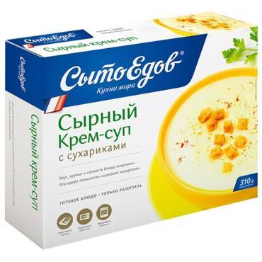 Готовое блюдо СытоЕдов Сырный крем-суп с сухариками