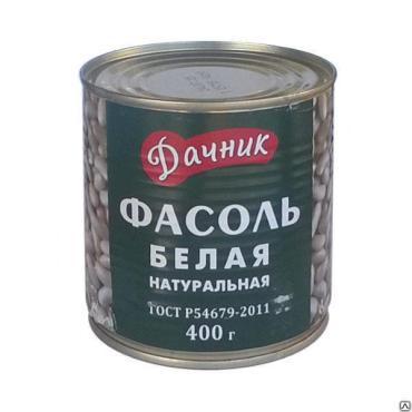 Овощные консервы Дачник фасоль белая натуральная