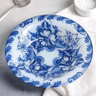 Тарелка суповая Доляна Синева 500 мл. 20,5 см.