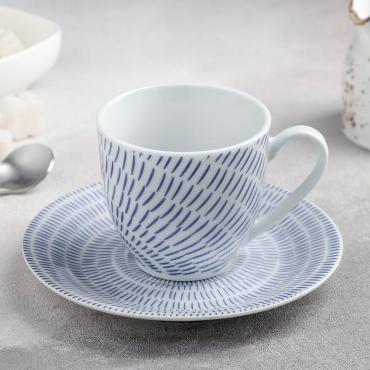 Чайная пара Доляна Антик чашка 200 мл., блюдце 15 см.