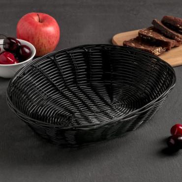 Корзина для хлеба и фруктов Доляна Плетенка 27х22х6 см.