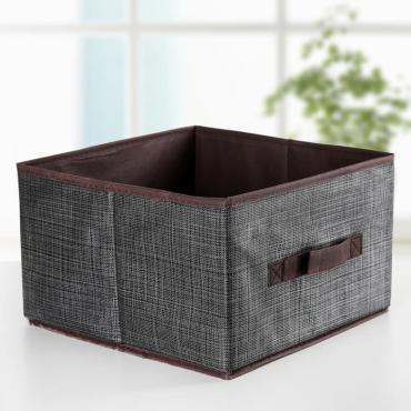 Короб для хранения Доляна Пастель 29×29×18 см. коричневый