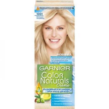 Крем-краска для волос Garnier Color Naturals 1001 Пепельный УльтраБлонд