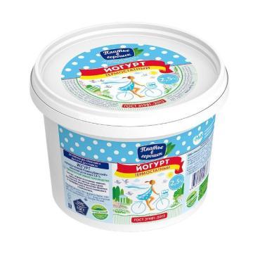 Йогурт классческий без компонентов 2,5 %, Платье в горошек, 700 гр., Пластиковое ведро