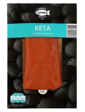 Кета Олива слабосоленая филе-кусок в/у 250г