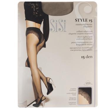 Колготки женские 15den, цвет: Daino, Размер 4L, Sisi Style, пластиковый пакет
