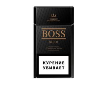 Сигареты с фильтром Boss gold, 30 гр., картонная пачка