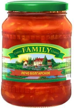 Лечо Family Болгарское, 680 гр., стекло